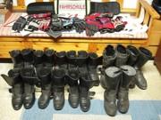 Handschuhe und Schuhe